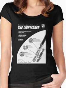 Star Wars Lightsaber Retro Ad Women's Fitted Scoop T-Shirt