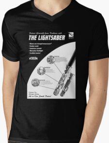 Star Wars Lightsaber Retro Ad Mens V-Neck T-Shirt