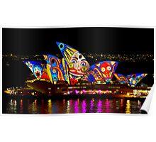 Clown Sails - Sydney Vivid Festival - Sydney Opera House Poster
