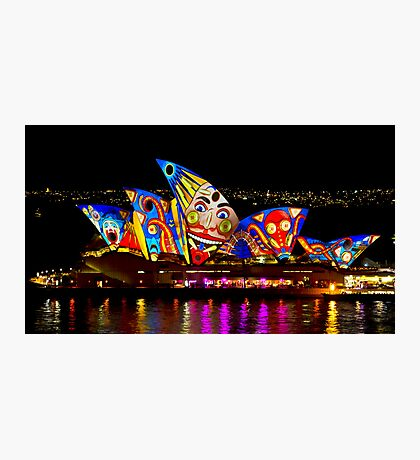 Clown Sails - Sydney Vivid Festival - Sydney Opera House Photographic Print