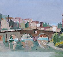 Roman Bridge, Verona by Lise Temple