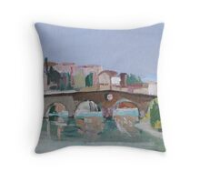 Roman Bridge, Verona Throw Pillow