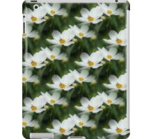 White Cosmos Flower And Bee iPad Case/Skin