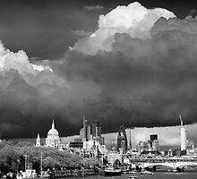 Stormclouds over London by Justin Foulkes