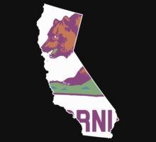 California State Outline [ Purp Green ] | SteezeFSC by FreshThreadShop