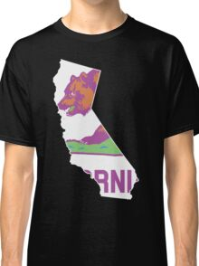 California State Outline [ Purp Green ] | SteezeFSC Classic T-Shirt