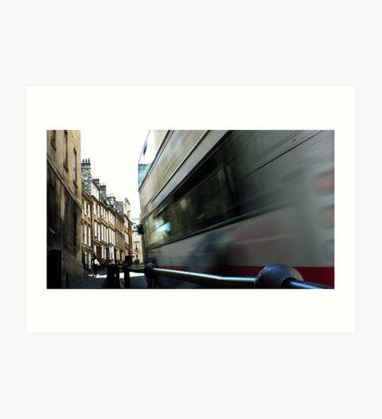 Speeding Bus Art Print