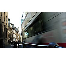 Speeding Bus Photographic Print