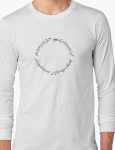 lord of the rings inscription Long Sleeve T-Shirt