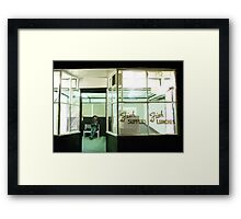 It's a waiting game Framed Print