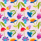 Decorative Tulips Pattern by rusanovska