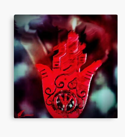 Hand of peace & fire Canvas Print