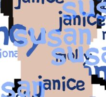 JD - Names Sticker