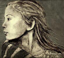 Mariah Drawing by Susan Bergstrom
