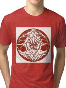 Pineapple, Butterfly, Rose 2 Tri-blend T-Shirt