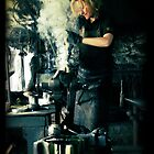 Blacksmith at work by Maria Tzamtzi
