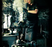 Blacksmith at work by Maria Tzamtzi