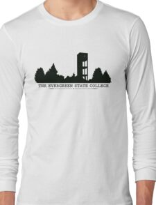 The Evergreen State College Clock Tower Long Sleeve T-Shirt