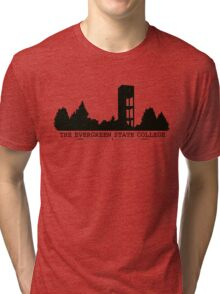The Evergreen State College Clock Tower Tri-blend T-Shirt