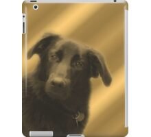 Cute Black Lab Mix Dog Face iPad Case/Skin