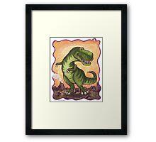 Animal Parade Tyrannosaurus Framed Print