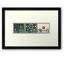 MegaMan Abusing His Power Framed Print