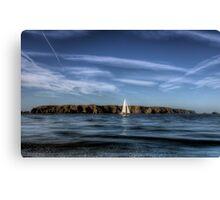 Sailing past Alderney Canvas Print