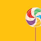 Colorful Lollypop on Yellow by rusanovska