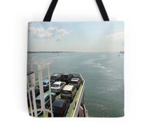 Red Funnel Ferry Crossing Southampton Water Tote Bag