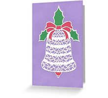 Christmas Bell - Purple Greeting Card