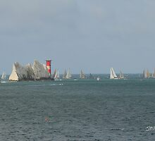 Round the Island Race at the Needles by Jonathan Cox