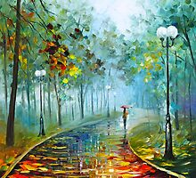 Fog Of Passion - Oil painting on Canvas By Leonid Afremov by Leonid  Afremov