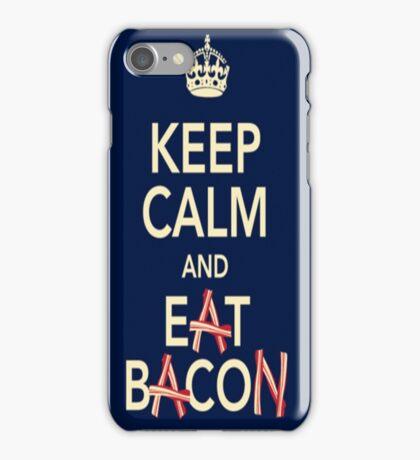 Keep Calm Eat Bacon iPhone Case/Skin