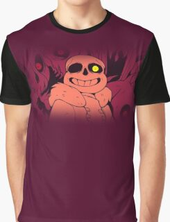 Undertale Sans Art Full Print (Red Burgundy Magenta) Graphic T-Shirt