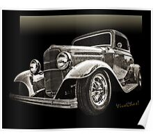 32 Ford Coupe Sketch of a Classic Street Rod Poster