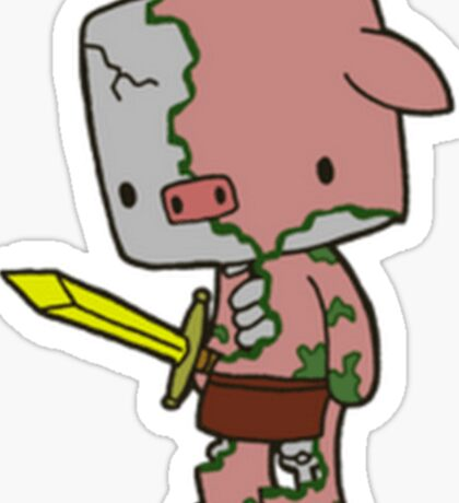 Minecraft ZombiePigman Sticker