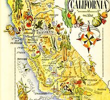 Vintage Map of California by libbbyr