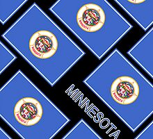 Smartphone Case - State Flag of Minnesota - Diagonal V by Mark Podger