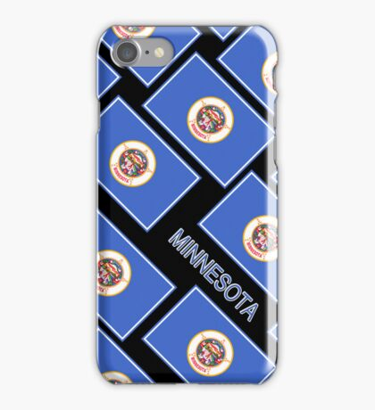 Smartphone Case - State Flag of Minnesota - Diagonal V iPhone Case/Skin