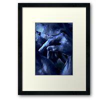 Thinking In Indigo Blues Framed Print