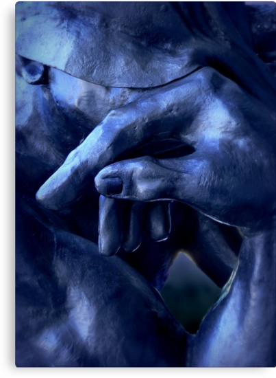 Thinking In Indigo Blues by paintingsheep