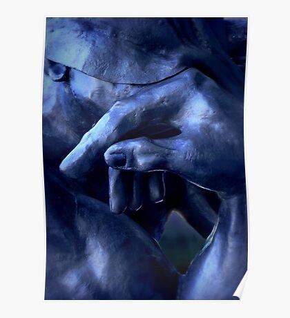 Thinking In Indigo Blues Poster