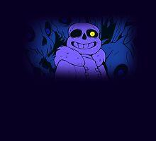 Undertale Sans Art Full Print (Blue Indigo Purple) by The Feline