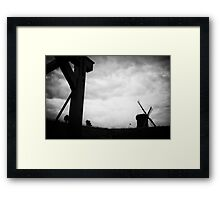 The Netherlands - Windmill before the storm Framed Print