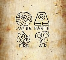 Water Earth Fire Air by alia-x