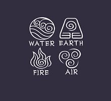 Water Earth Fire Air Womens Fitted T-Shirt