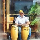 Musicians - Playing Bongo Drums by Susan Savad