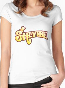 SheVibe Logo - Wonka Style Women's Fitted Scoop T-Shirt