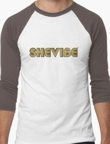 SheVbe 70's Retro Logo Men's Baseball ¾ T-Shirt