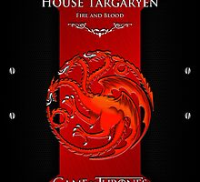 iPhone Cover - Game Of Thrones Targaryen Red Dragon by Chibie